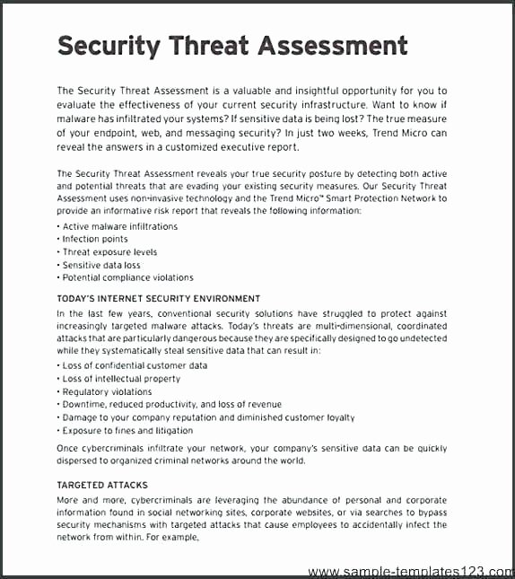 Physical Security assessment Report Template Luxury Network Security assessment Template Doc Risk Excel Report