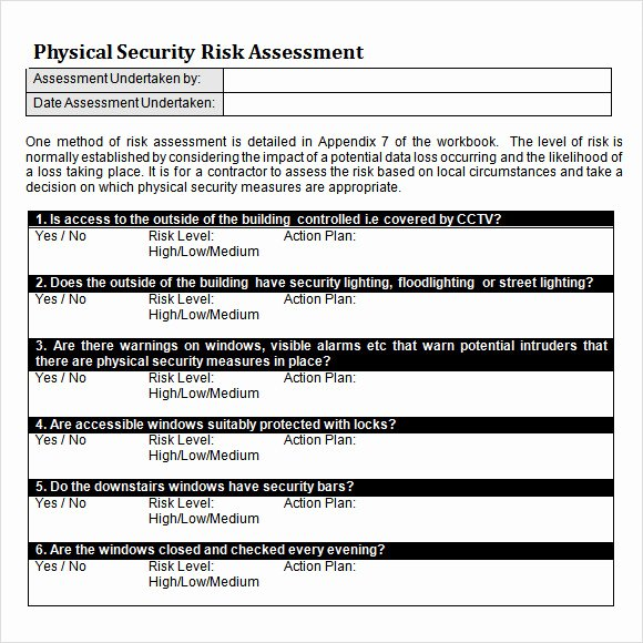 Physical Security assessment Report Template New 10 Sample Security Risk assessment Templates Pdf Word