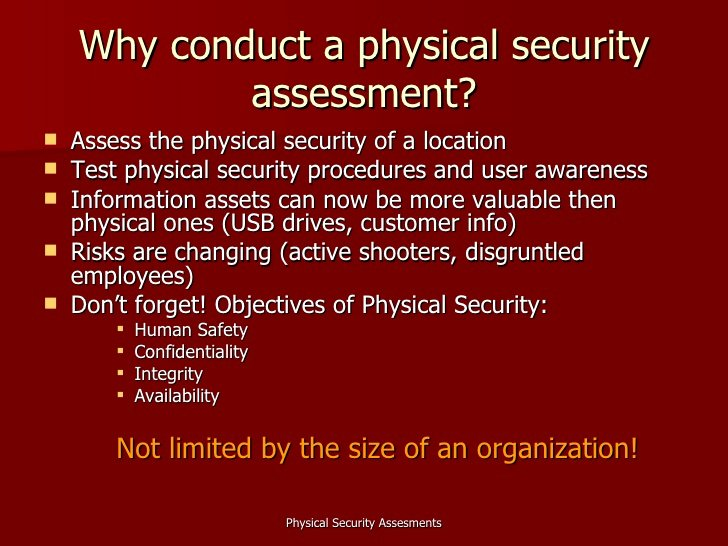 Physical Security assessment Report Template Unique Physical Security assessments