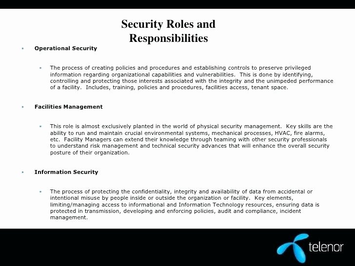 Physical Security Policy Template Fresh Facility Security Policy Template – Nunoassis