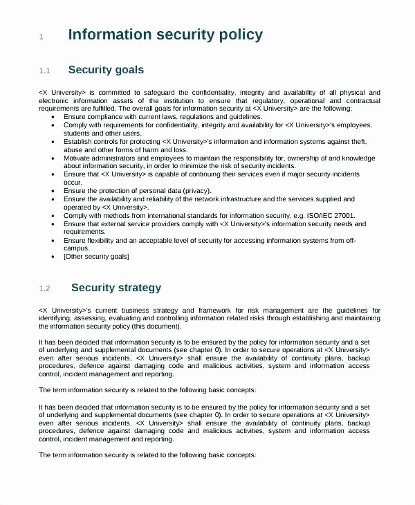 Physical Security Policy Template New 96 Nist Security Policy Template File Nist Sp 800 30