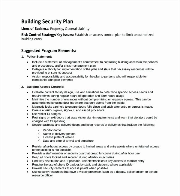 Physical Security Policy Template New Pany Security Policy Template – Hazstyle
