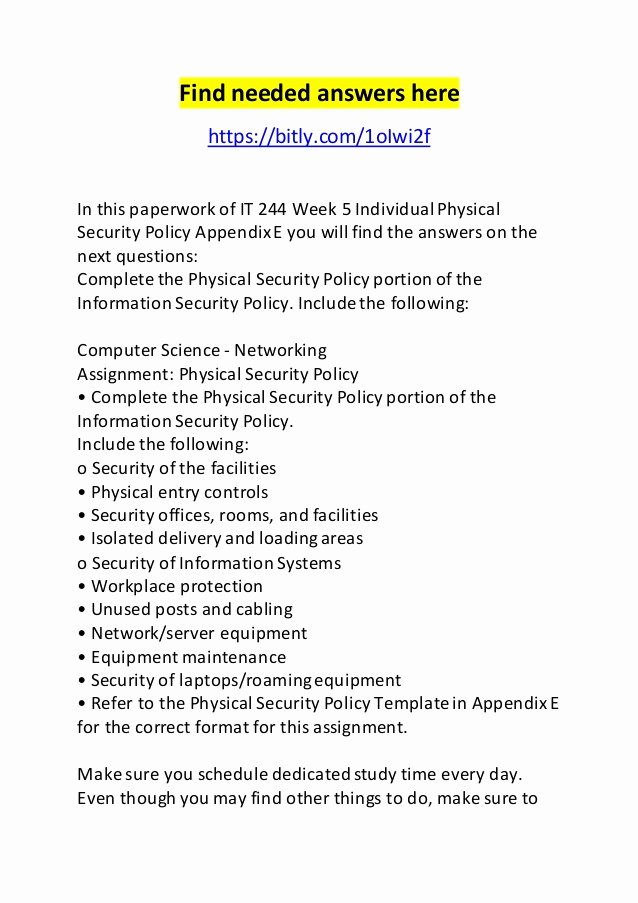 Physical Security Policy Template Unique Physical Security Policy Template Choice Image Free