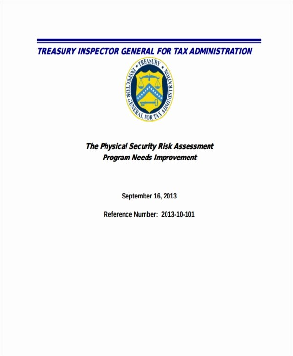 Physical Security Risk assessment Template Elegant 37 Risk assessment Templates