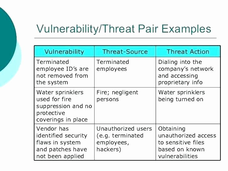 Physical Security Risk assessment Template Fresh It Vulnerability assessment Template – Energycorridor