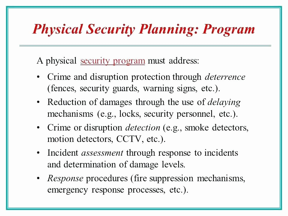Physical Security Risk assessment Template Inspirational Physical Security Survey Template Residential Site Risk