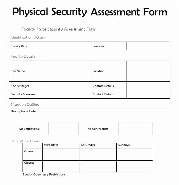 Physical Security Risk assessment Template Unique Building Security Risk assessment Template Beautiful