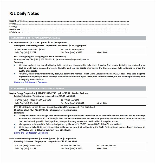 Physical therapy Daily Note Template Unique 10 Daily Notes Templates