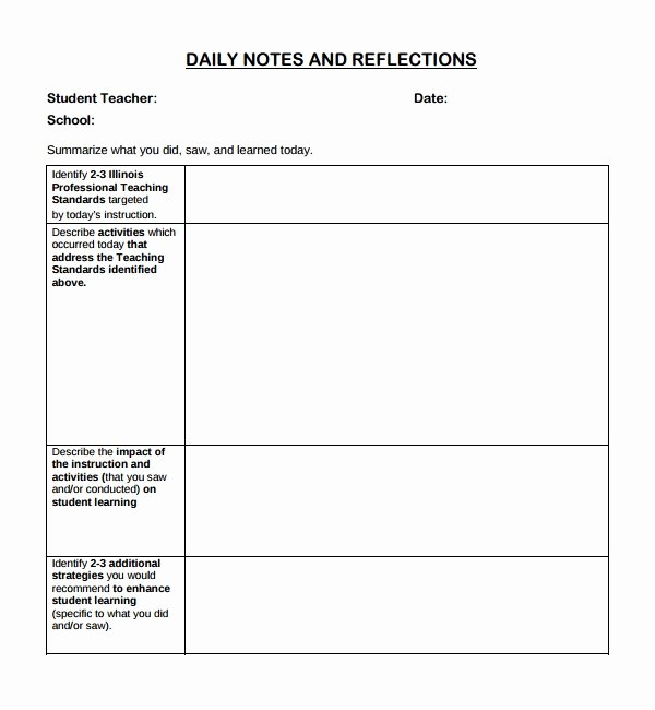Physical therapy Daily Notes Template Elegant 10 Daily Notes Templates