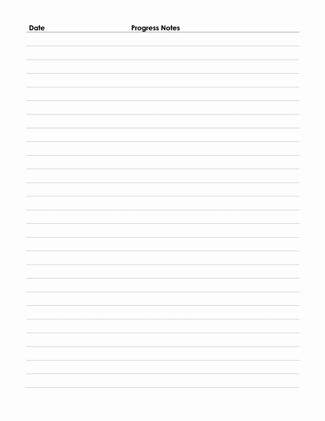Physical therapy Daily Notes Template Inspirational Patient Progress Notes