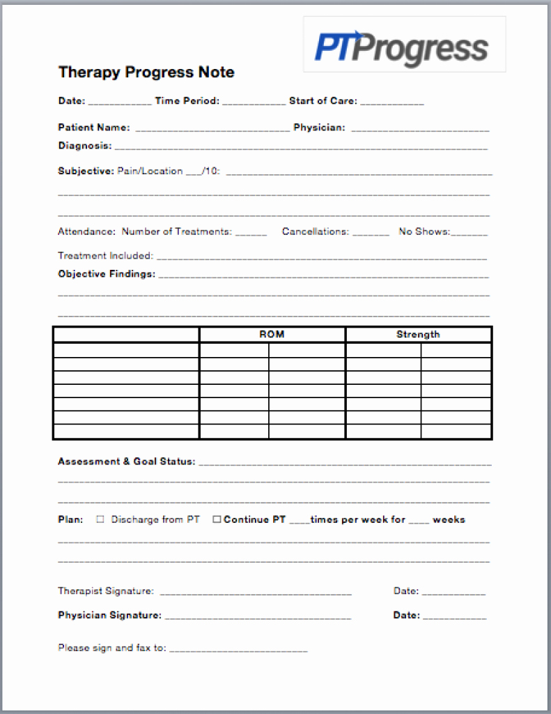 Physical therapy Progress Notes Template Best Of How to Write A Progress Note