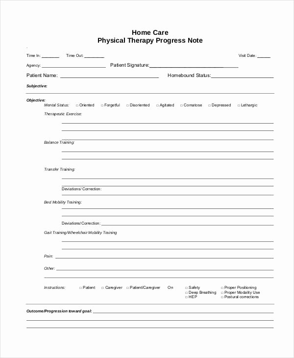 Physical therapy Progress Notes Template Luxury therapy Notes Related Keywords therapy Notes Long Tail
