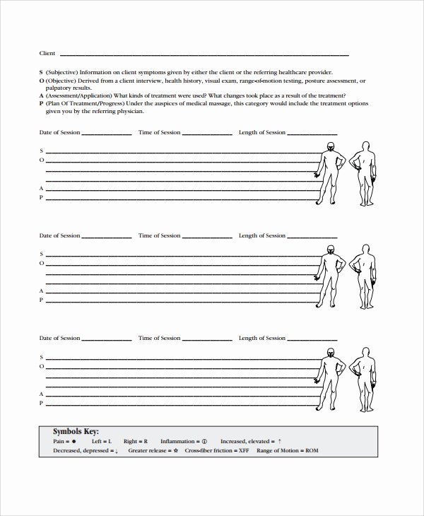 Physical therapy soap Notes Template Best Of 15 soap Note Examples Free Sample Example format