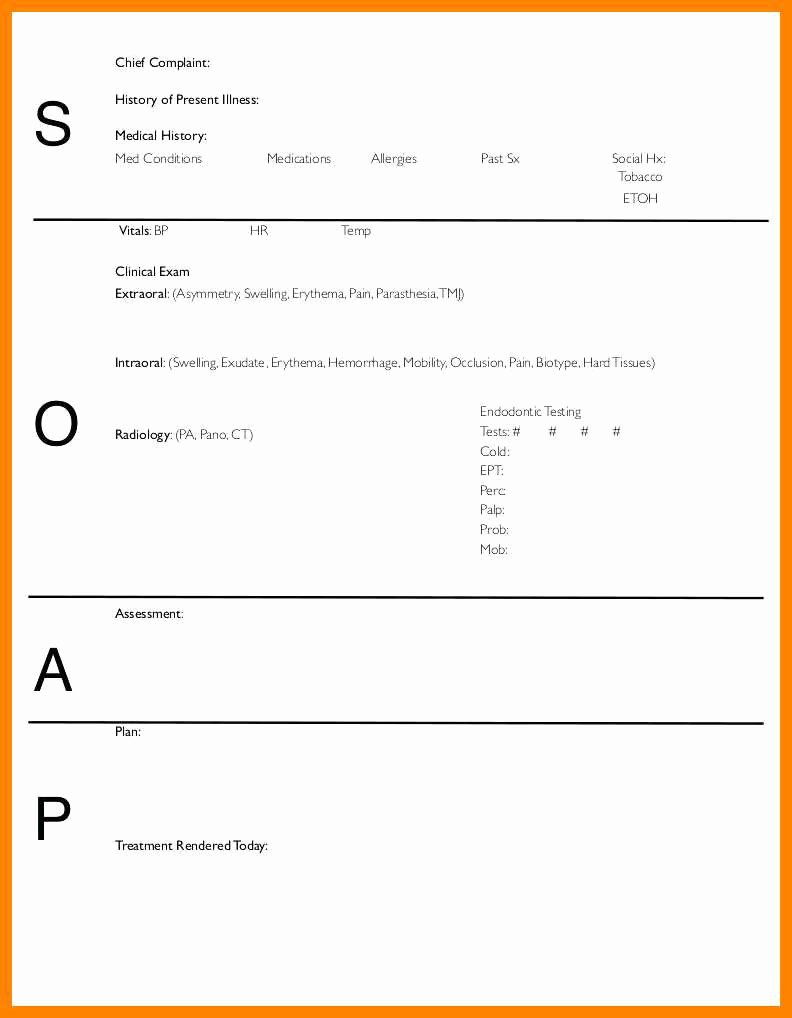 Physical therapy soap Notes Template Inspirational 1 2 Sample soap Notes for Physical therapy