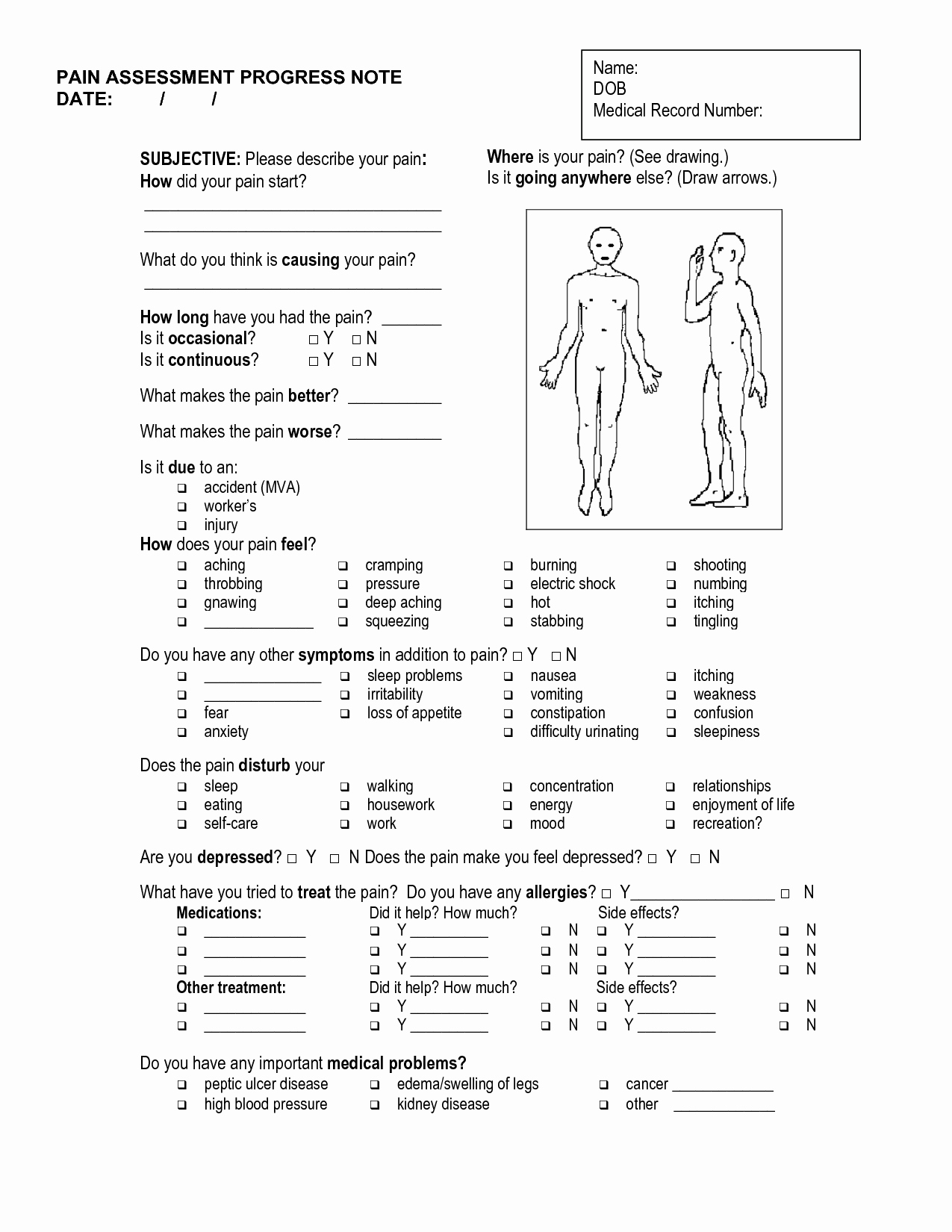 Physical therapy soap Notes Template Unique 10 Best Of Free Massage therapy soap Note forms
