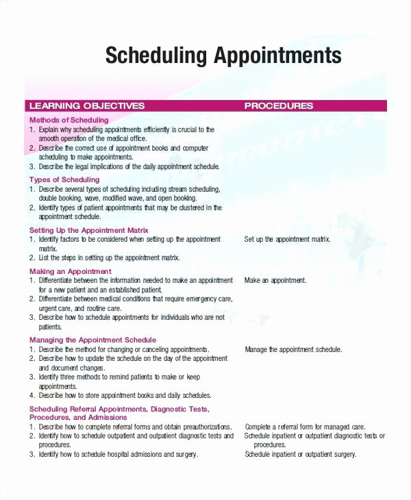 Physician Appointment Scheduling Template Best Of 94 Medical Appointment Scheduling Template Appointment