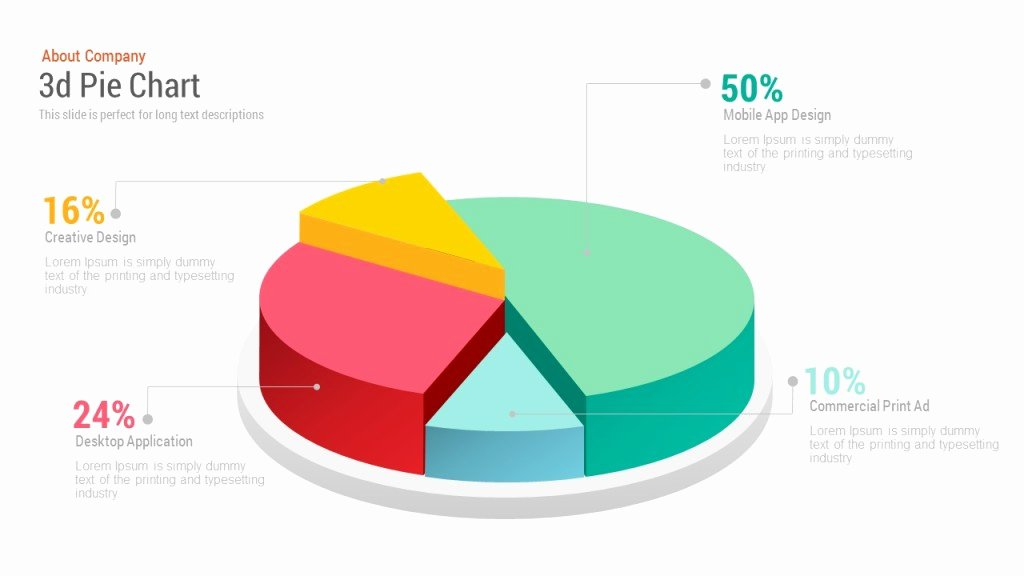 Pie Chart Template Excel Luxury 3d Pie Chart Free Powerpoint and Keynote Template