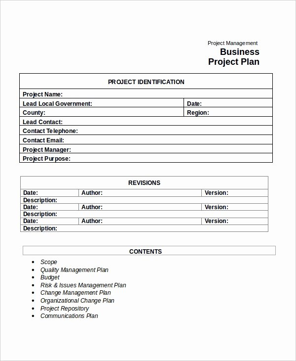 Pilot Project Plan Template Best Of Free Pilot Project Plan Template – Free Template Design