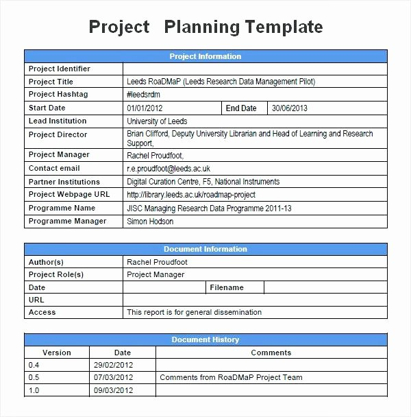 Pilot Project Plan Template Elegant Munication Planning Project Management Plan Template