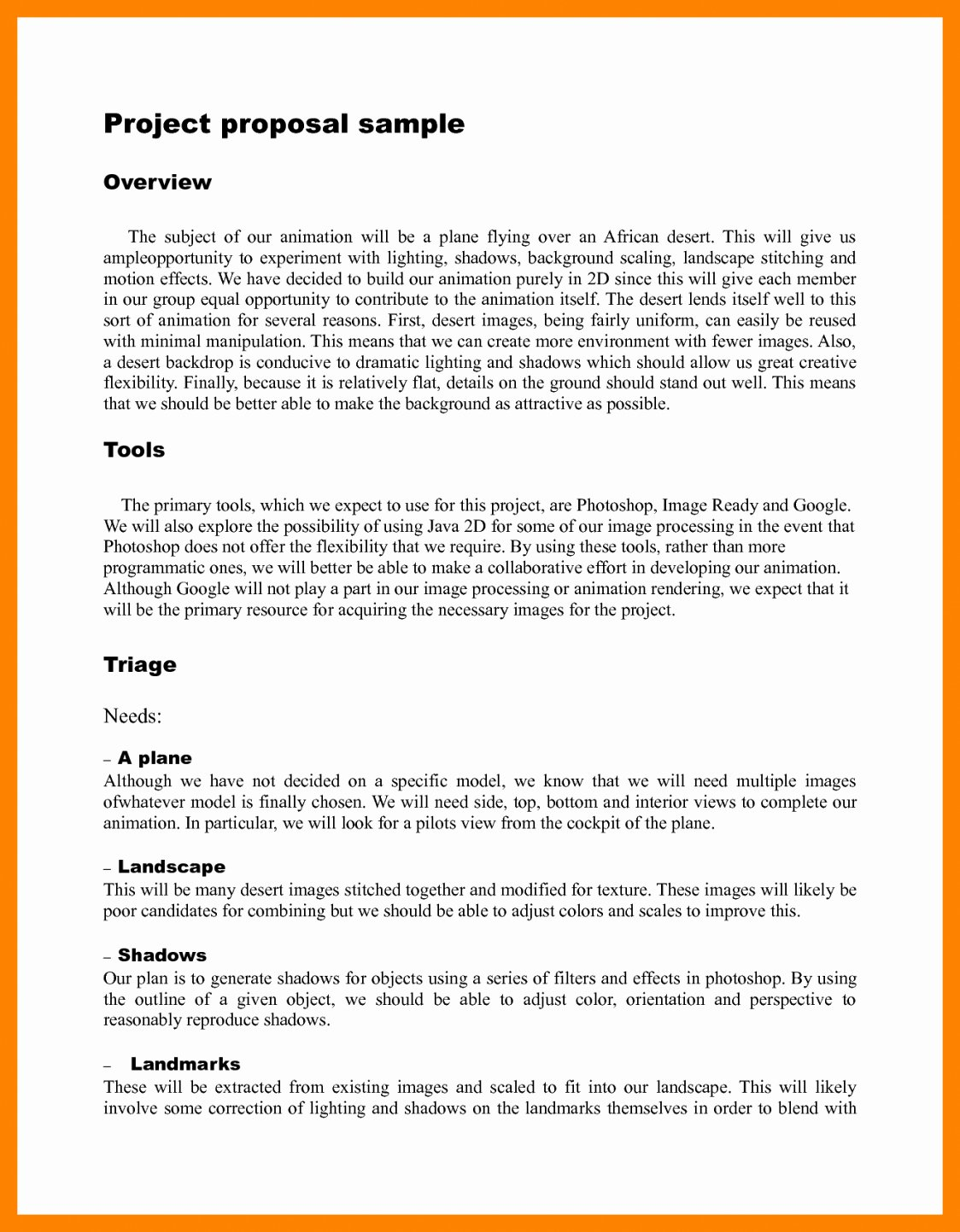 Pilot Project Plan Template Inspirational Simple Project Proposal Example Template