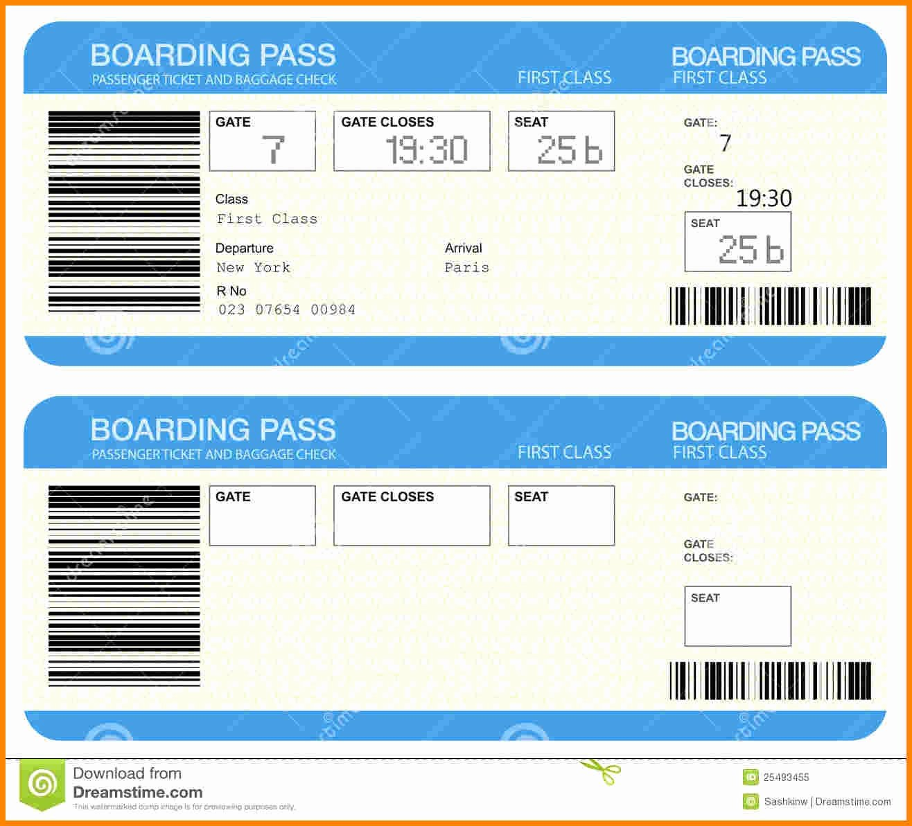 Plane Ticket Template Word Awesome Airline Ticket Template Word Example Mughals