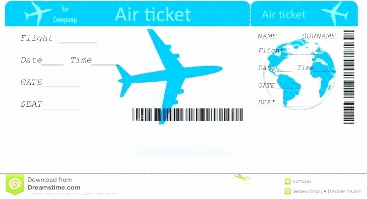 Plane Ticket Template Word Beautiful Pretend Plane Ticket Template Pretend Plane Ticket