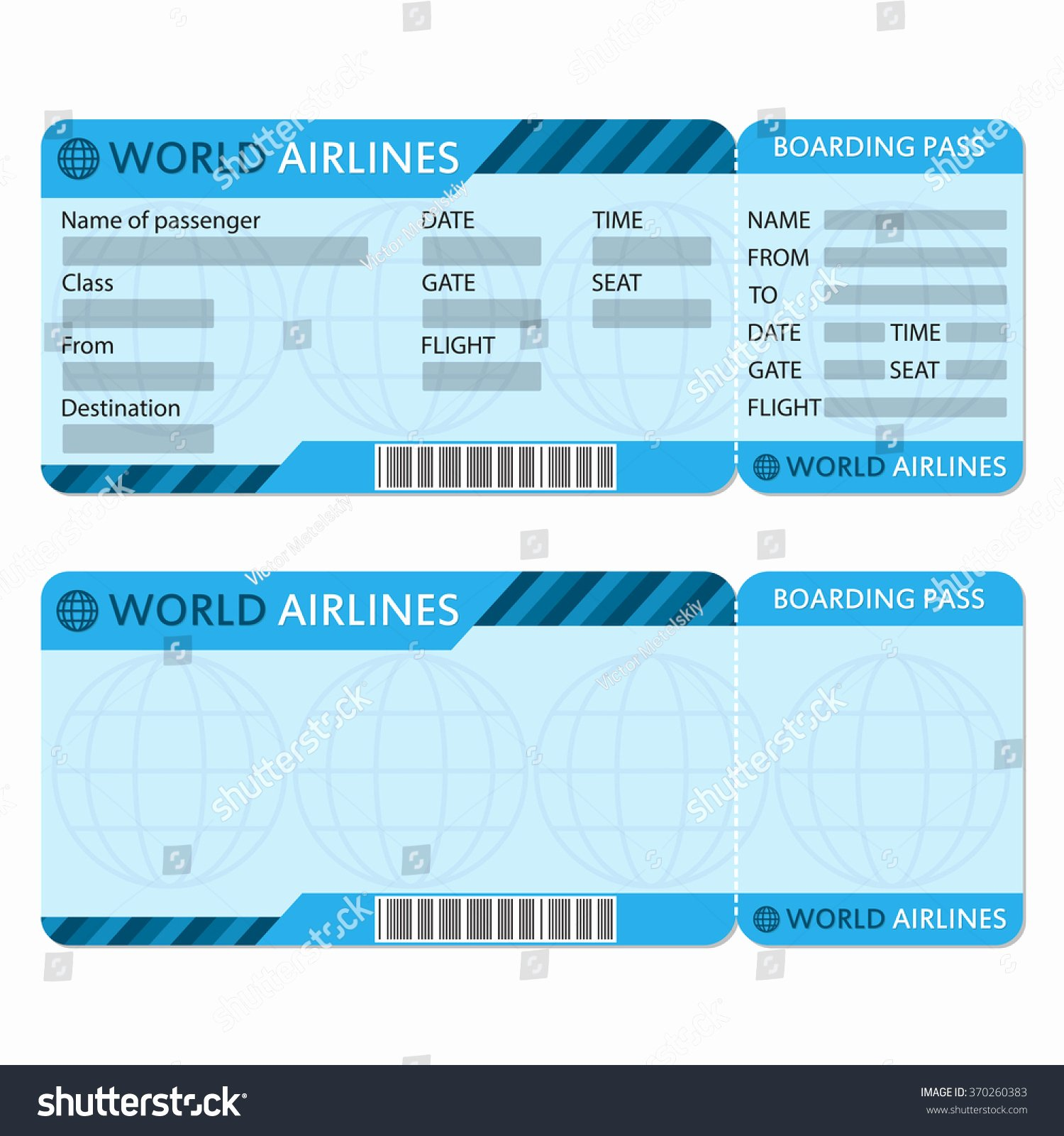Plane Ticket Template Word Elegant Airplane Ticket Template Bamboodownunder
