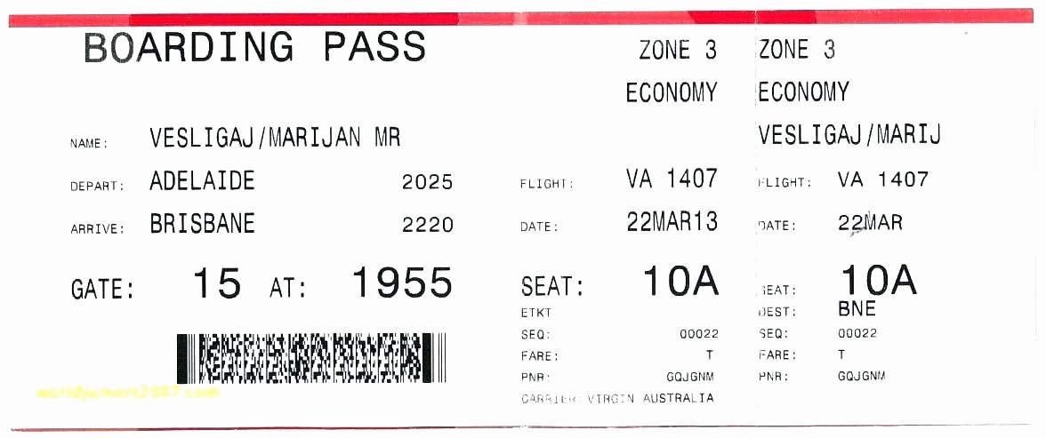 Plane Ticket Template Word Elegant Fake Airline Ticket Template Free Vector Plane Printable
