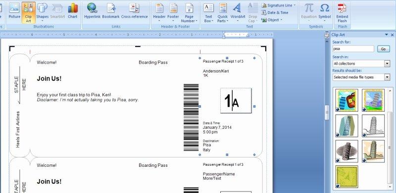 Plane Ticket Template Word Fresh Plane Ticket Template Beepmunk