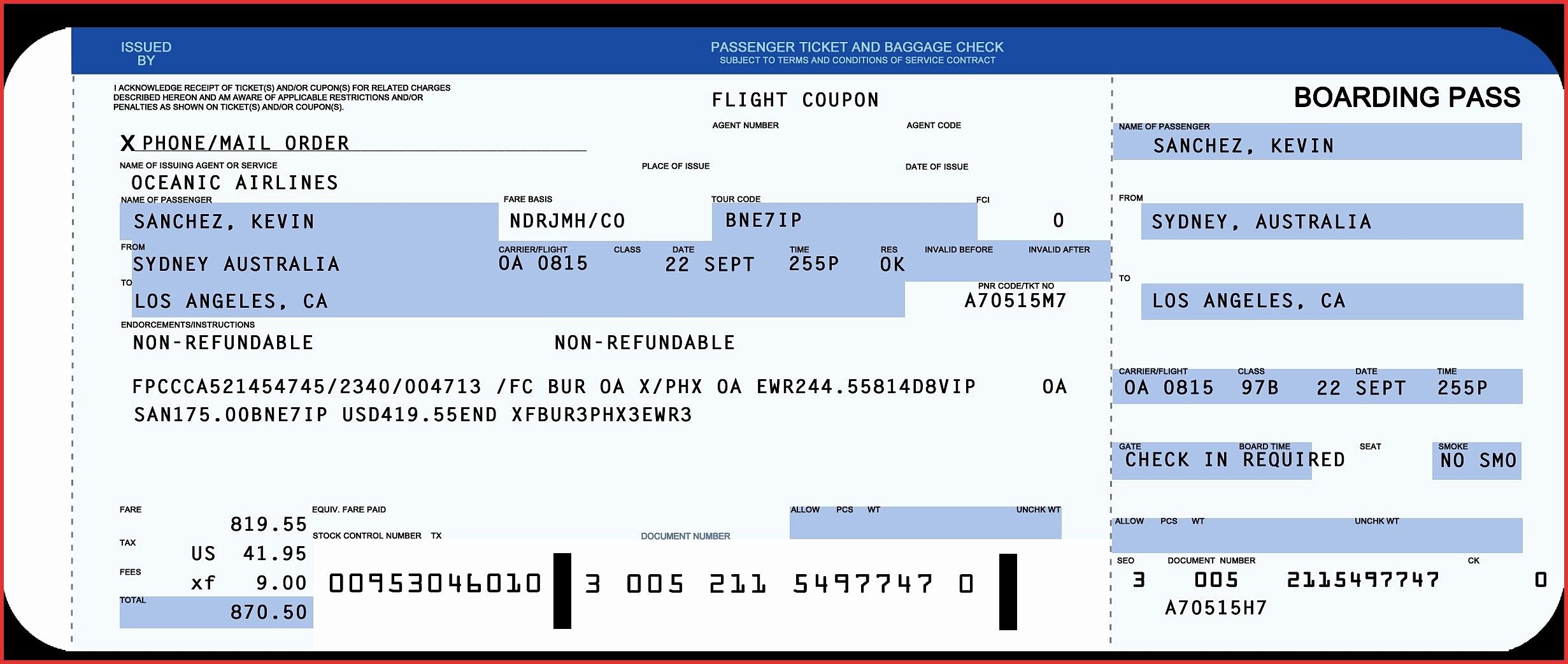 Plane Ticket Template Word Fresh Plane Ticket Template Word Copy Awesome