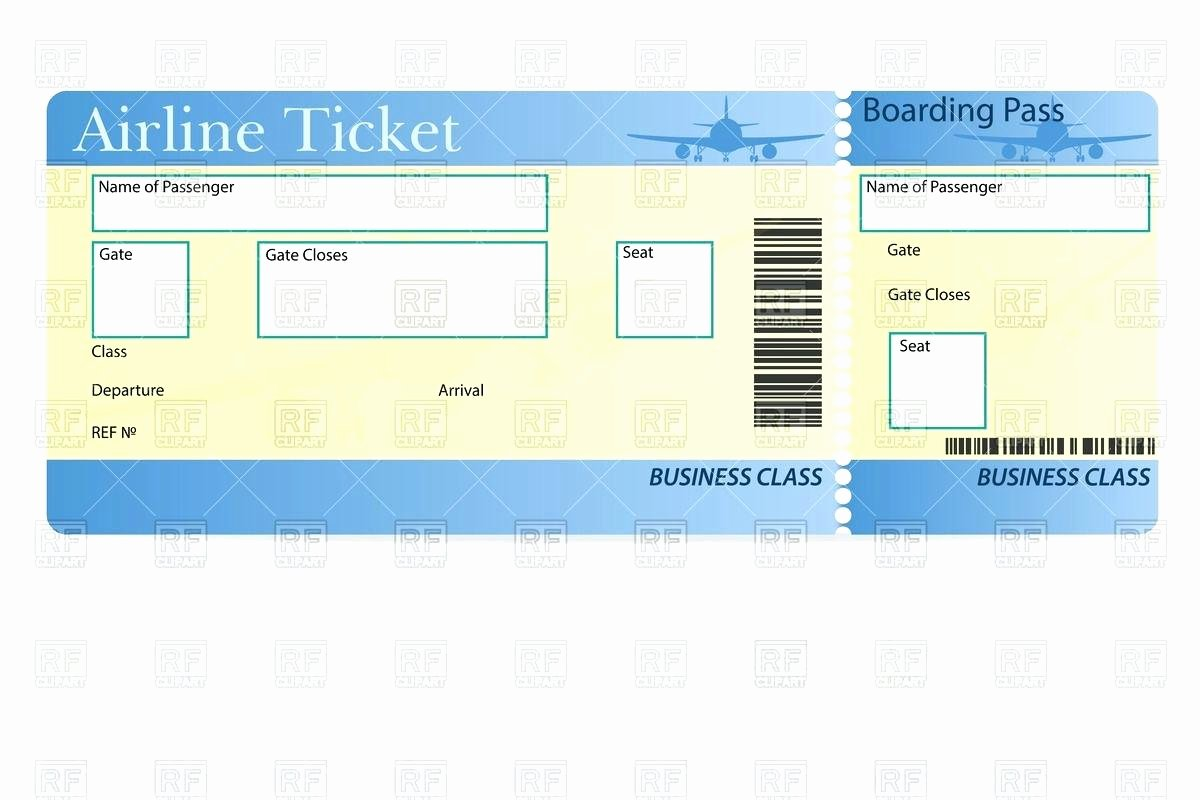 Plane Ticket Template Word Fresh Template Travel Ticket Template