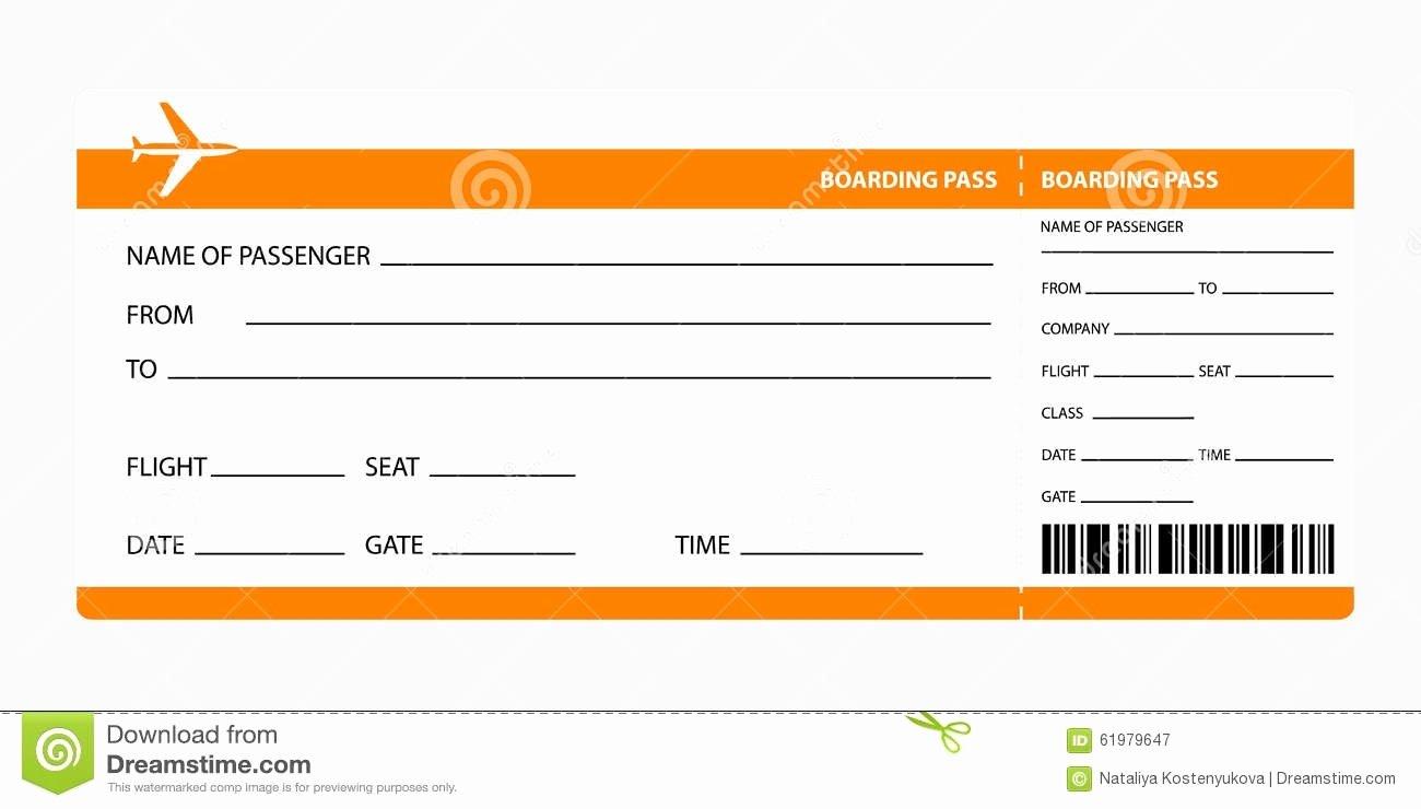 Plane Ticket Template Word Inspirational Boarding Pass Template Beepmunk