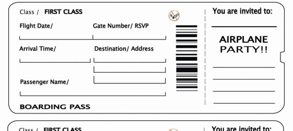 Plane Ticket Template Word Lovely Plane Ticket Template Beepmunk