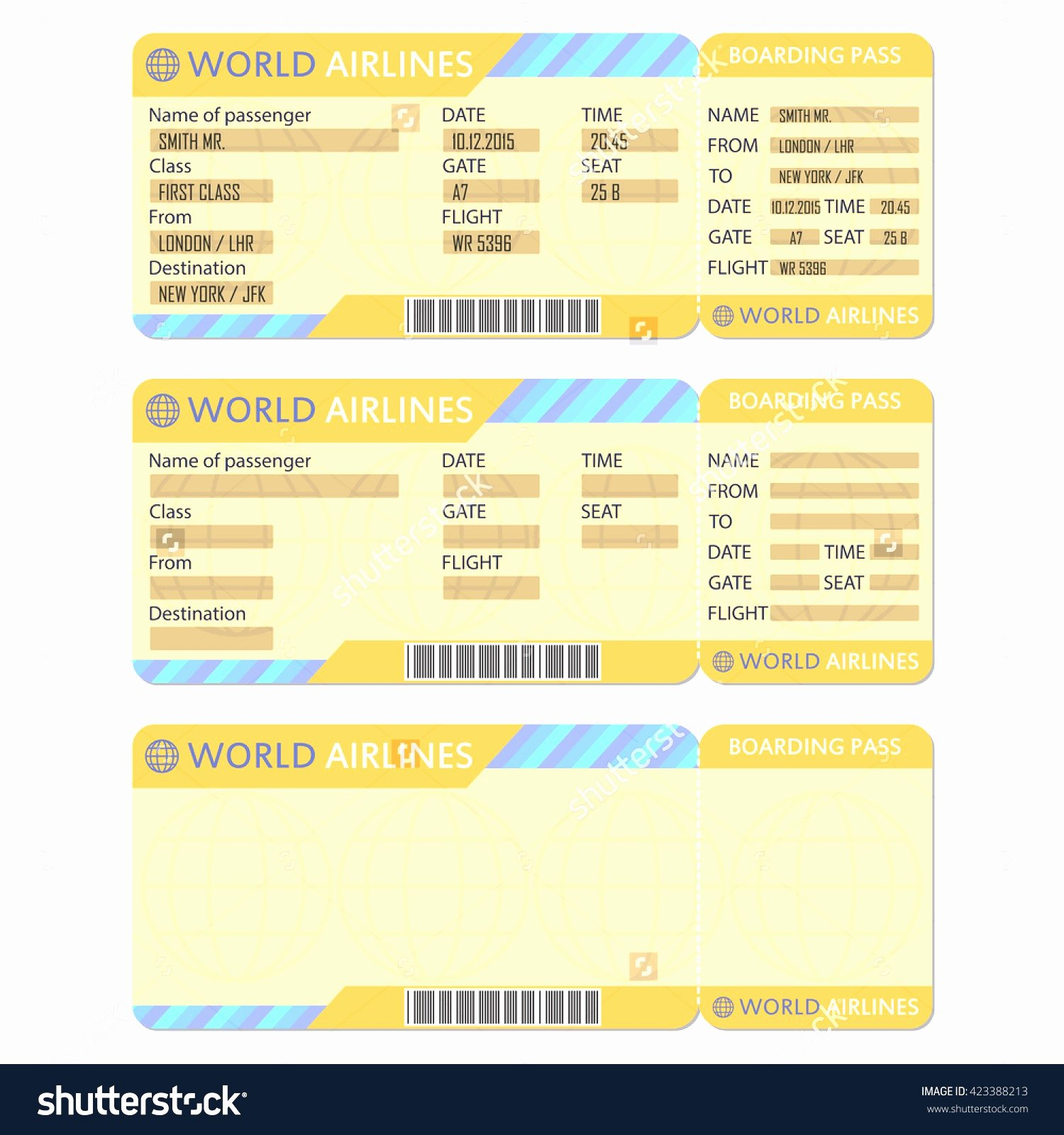 Plane Ticket Template Word Luxury Airline Ticket Template Word Example Mughals