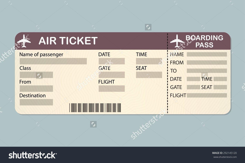 Plane Ticket Template Word Luxury Plane Ticket Template Beepmunk