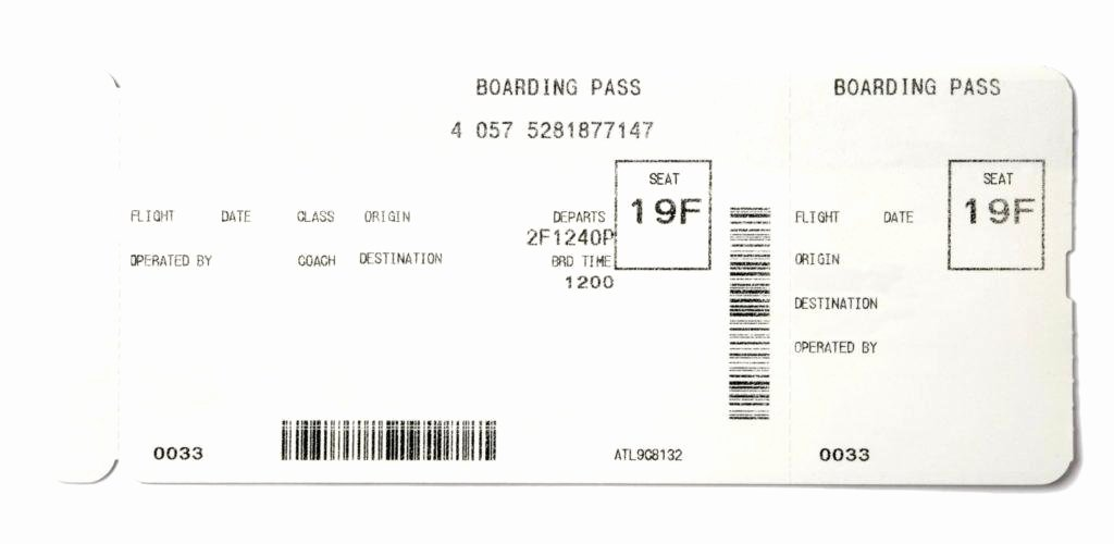 Plane Ticket Template Word New Boarding Pass Template Microsoft Word Train Ticket