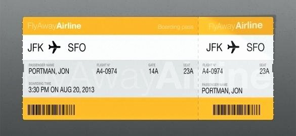Plane Ticket Template Word New Plane Ticket Template Word – Giancarlosopofo