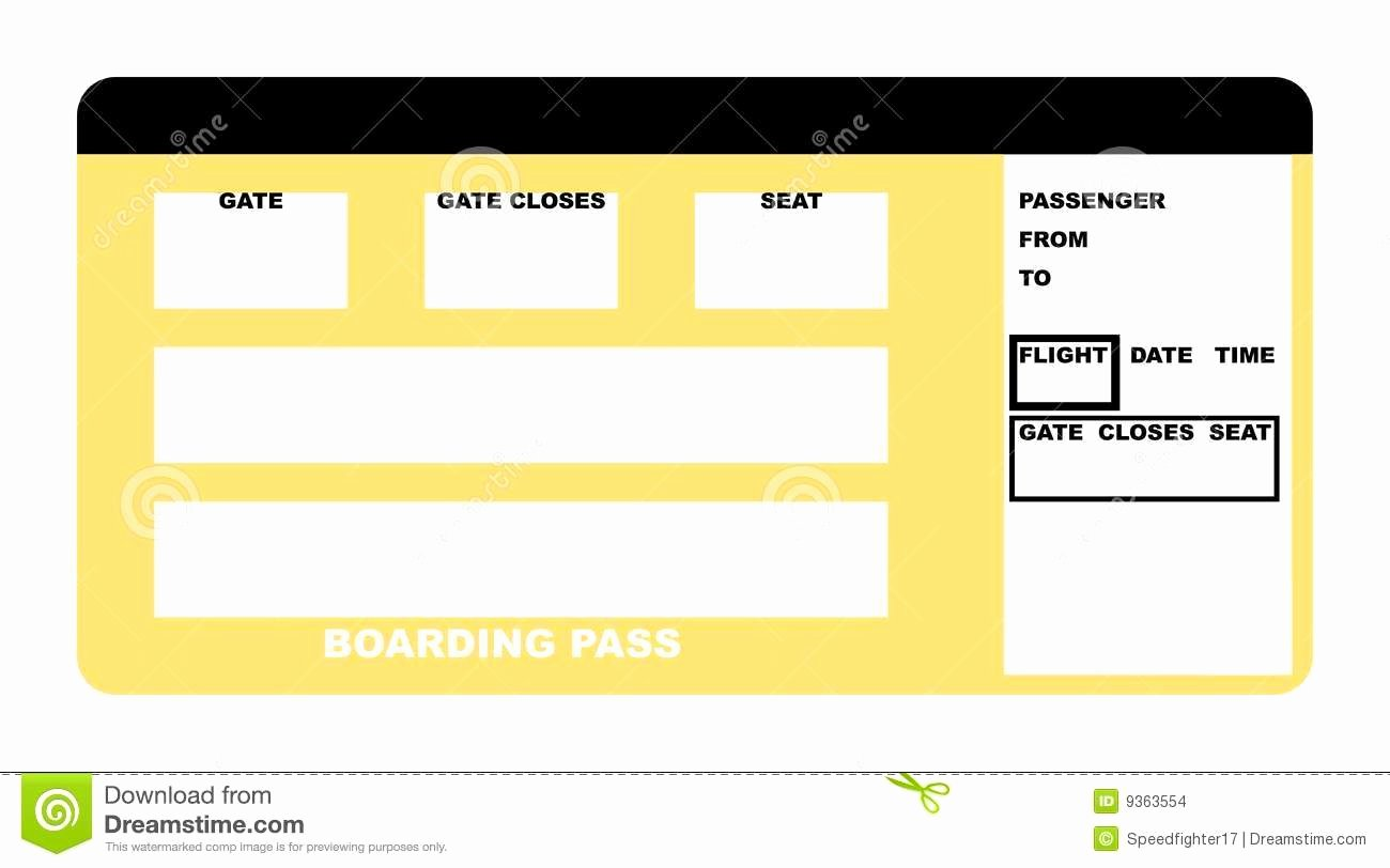 Plane Ticket Template Word Unique Airline Ticket Template Word Example Mughals