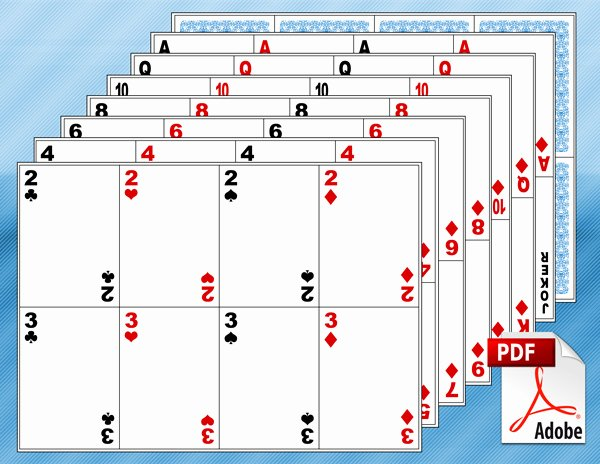 Playing Card Design Template Beautiful 13 Playing Card Design Template Printable Blank