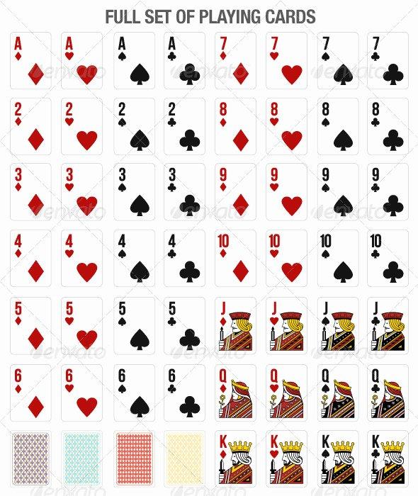 Playing Card Design Template Beautiful 13 Vector Playing Card Template Free Vector