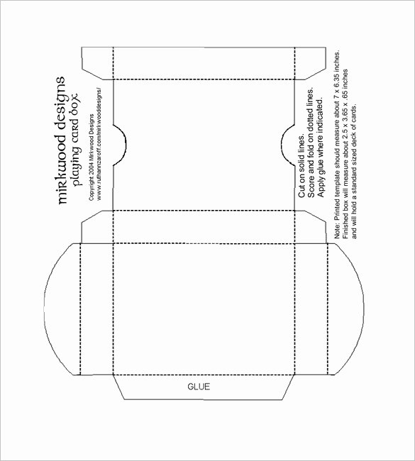 Playing Card Design Template Best Of 14 Playing Card Box Templates Doc Pdf