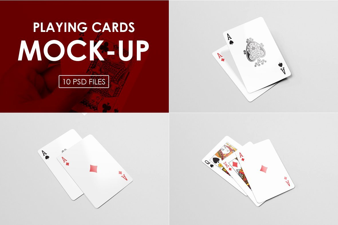 Playing Card Design Template Best Of Playing Cards Mock Ups Print Mockups Creative Market