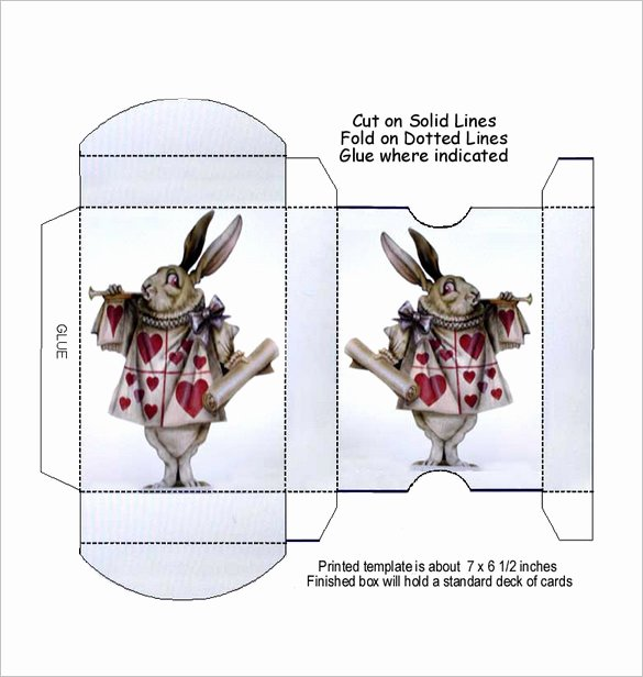 Playing Card Design Template Fresh 14 Playing Card Box Templates Doc Pdf