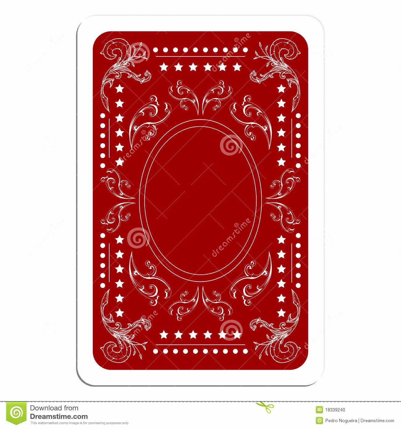 Playing Card Design Template Fresh Playing Card Back Stock Vector Illustration Of Betting