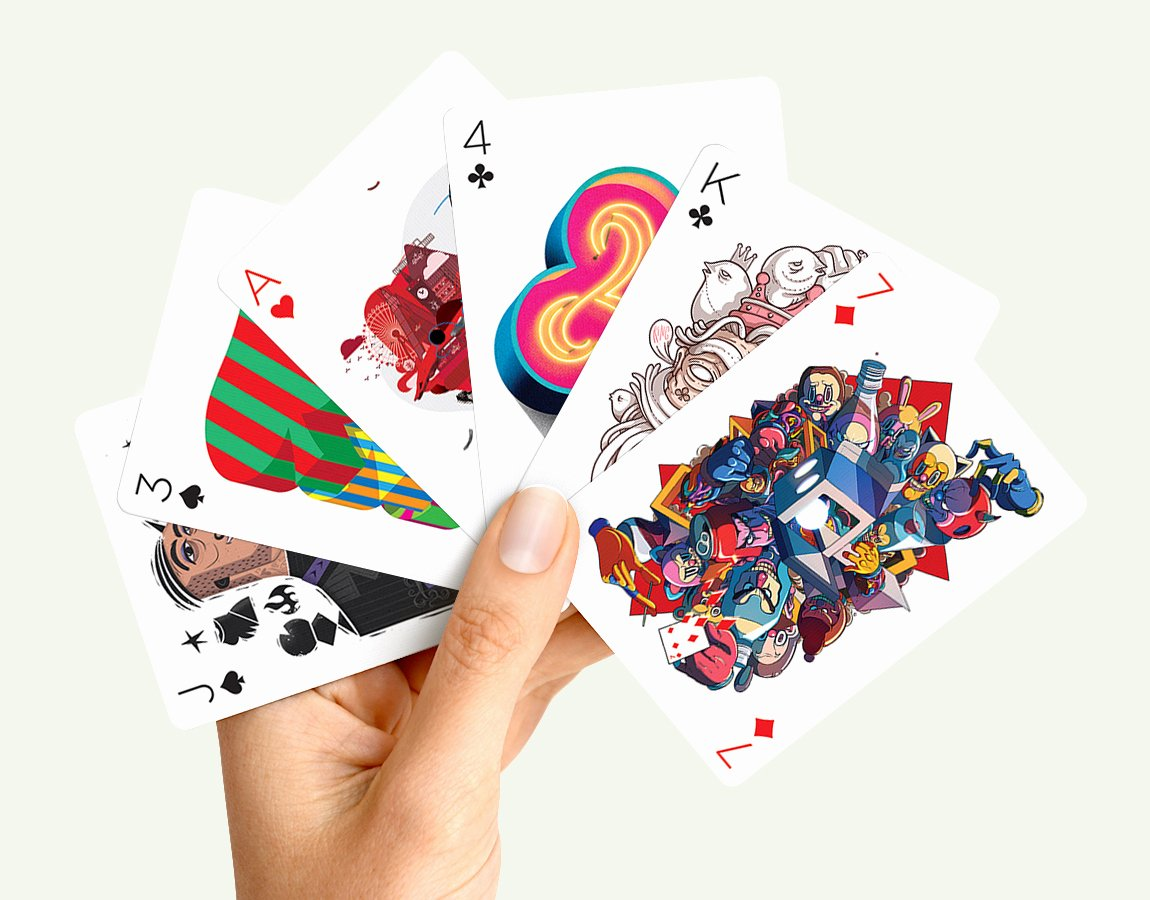 Playing Card Design Template Inspirational Playing Arts Deck Of Cards Details Artwork by 55 Artists