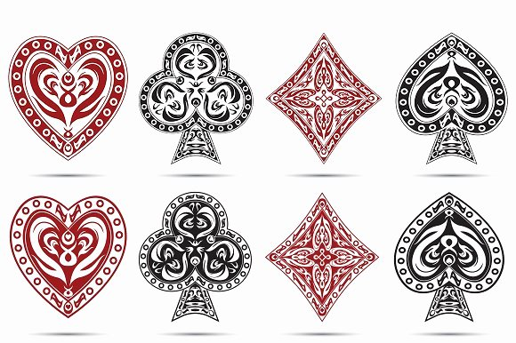 Playing Card Design Template Lovely Playing Cards Symbols Icons On Creative Market