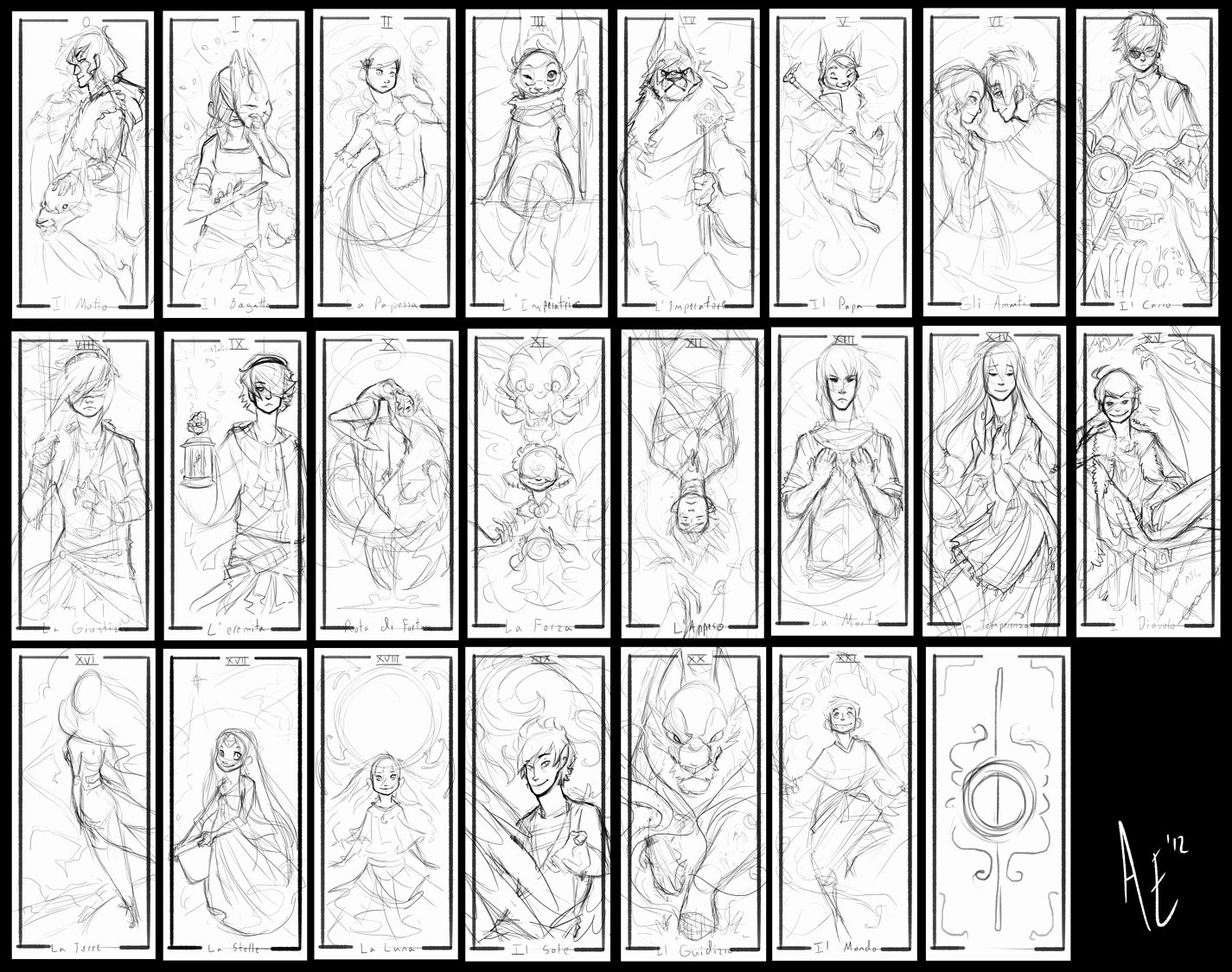 Playing Card Design Template Lovely Turtle Tarot Rough Sketches by Turtle Arts On Deviantart