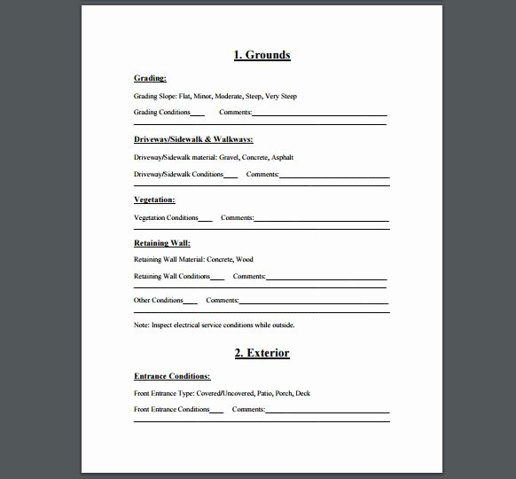 Plumbing Inspection Report Template Luxury Plumbing Inspection form Seatle Davidjoel