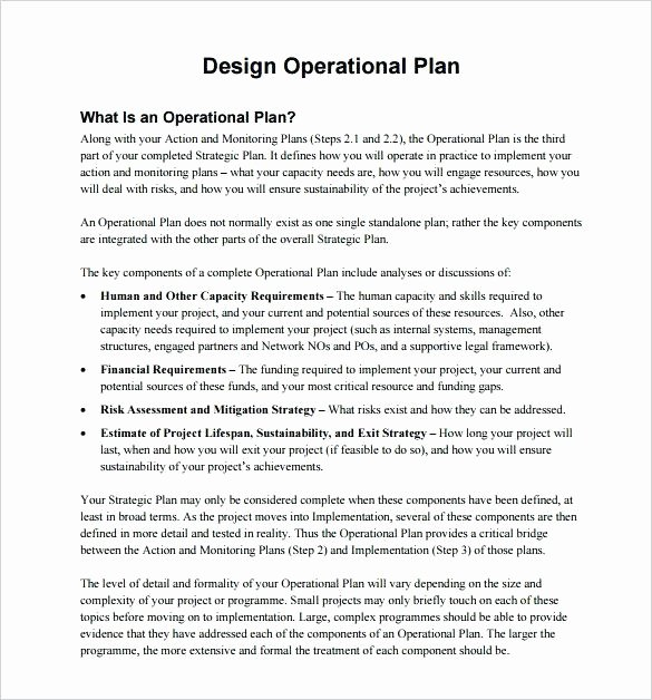 Police Operational Plan Template Unique Operational Plan Templates Free Sample Example format