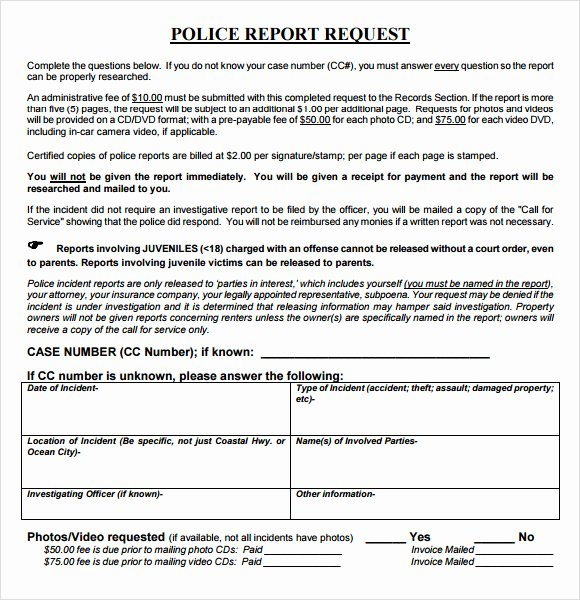 Police Report Template Pdf Beautiful 8 Sample Police Reports